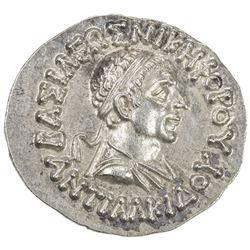 INDO-GREEK: Antialkides, ca. 115-95 BC, AE drachm (2.45g). EF-AU