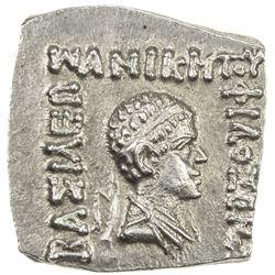 INDO-GREEK: Philoxenos, ca. 100-95 BC, AE square drachm (2.42g). AU