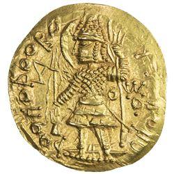KUSHANO-SASANIAN: temp. Ardashir & Peroz I, ca. 230-270, AV dinar (8.09g). EF