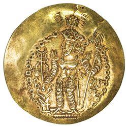 KUSHANO-SASANIAN: Varahran, ca. 325-350, AV scyphate dinar (7.48g). VF-EF