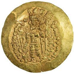 KUSHANO-SASANIAN: Varahran, posthumous, after 350, AV scyphate dinar (7.78g). EF