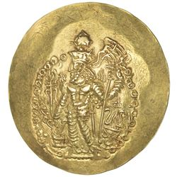 KUSHANO-SASANIAN: Varahran, ca. 325-350, AV scyphate dinar (7.72g). EF