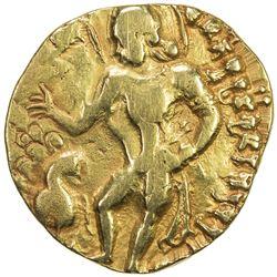 GUPTA: Kumaragupta I, 409-450/52, AV dinar (8.08g), Peacock Type, BMC-254/56, VF
