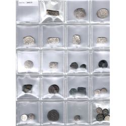 ANCIENT INDIA: LOT of 26 coins including Ancient India Kosala & Mauryan silver punchmarked types