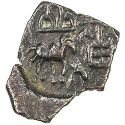 KHANDESH: Anonymous, 1st century BC, AE square unit (0.83g). VF