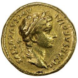 ANCIENT INDIA: ROMAN IMITATION COINS: Tiberius, 14-37 AD, AV aureus (6.97g). VF