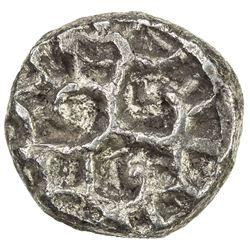 PAURAVAS of KAUSAMBI: Anonymous, ca. 500-300 BC, AR unit (1.88g). VF