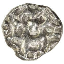PAURAVAS of KAUSAMBI: Anonymous, ca. 500-300 BC, AR unit (2.00g). VF