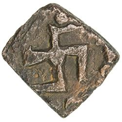 KAUSAMBI: Anonymous, ca. 200 BC, AE square unit (2.10g). VF