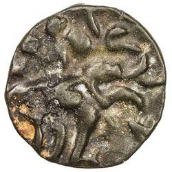 SATAVAHANAS: Kochchiputra, king, 1st century BC, BI round unit (1.84g). EF