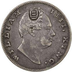 CHINESE CHOPMARKS: BRITISH INDIA: William IV, 1830-1837, AR rupee, 1835