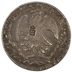 CHINESE CHOPMARKS: MEXICO: Republic, AR 8 reales, 1854-Zs. VF