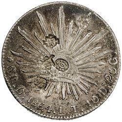 CHINESE CHOPMARKS: MEXICO: Republic, AR 8 reales, 1864-Do. VF