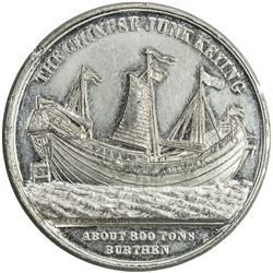 CHINA: white metal medal, 1848. UNC