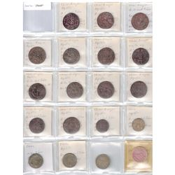 CHINA: LOT of 21 tokens, above average quality examples, a wonderful little group!