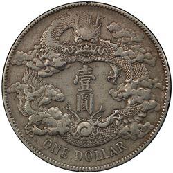CHINA: Hsuan T'ung, 1909-1911, AR dollar, year 3 (1911). PCGS EF