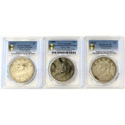 CHINA: LOT of 6 PCGS-graded silver coins, retail value $1500