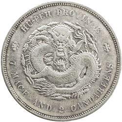 HUPEH: Hsuan Tung, 1909-1911, AR dollar, ND (1909-11). EF