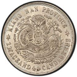 KIANGNAN: Kuang Hsu, 1875-1908, AR 20 cents, CD1901. PCGS AU58