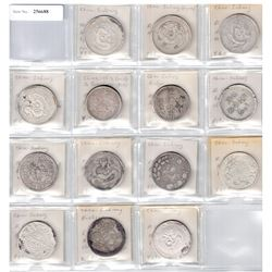 SINKIANG: LOT of 14 silver 5 miscals, average quality examples