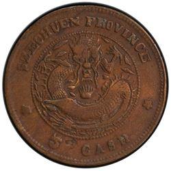 SZECHUAN: Kuang Hsu, 1875-1908, AE 5 cash, ND (1903-04). PCGS EF
