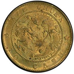 SZECHUAN: Kuang Hsu, 1875-1908, brass 10 cash, ND (1903-05). PCGS MS62