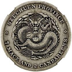 SZECHUAN: Kuang Hsu, 1875-1908, AR dollar, ND (1901-08). NGC VF35