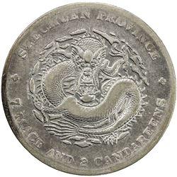 SZECHUAN: Hsuan Tung, 1909-1911, AR dollar, ND (1909-11). F