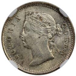 HONG KONG: Victoria, 1842-1901, AR 5 cents, 1899. NGC MS64