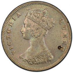 HONG KONG: Victoria, 1841-1901, AR 10 cents, 1866