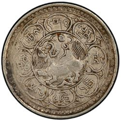 TIBET: AR 5 sho, Mekyi mint, year 15-47 (1913). PCGS EF