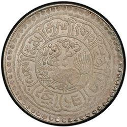 TIBET: AR 5 sho, Mekyi mint, year 15-51 (1917). PCGS AU55