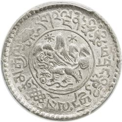 TIBET: AR 1 1/2 srang, Trabshi mint, year 16-12 (1938). PCGS MS64