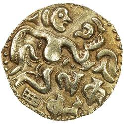 CEYLON (MEDIEVAL): Anonymous, ca. 990-1070, AV kahavanu (4.36g). AU