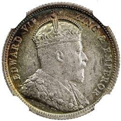 CEYLON: Edward VII, 1901-1910, AR 50 cents, 1902. NGC MS64