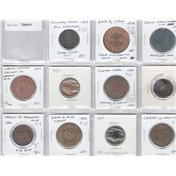 CEYLON: LOT of 11 tokens, average quality condition