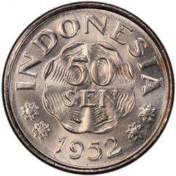INDONESIA: Republic, 50 sen, 1952. PCGS SP