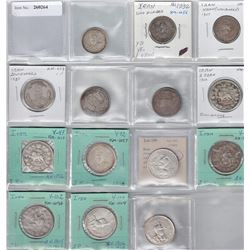 IRAN: LOT of 14 silver machine-struck coins of the Qajar and Pahlavi dynasties