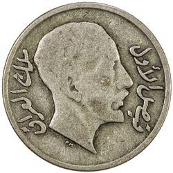 IRAQ: Faisal I, 1921-1933, AR 20 fils, 1933/AH1252. F