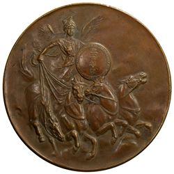 JAPAN: Meiji, 1868-1912, AE medal, year 40 (1907). EF