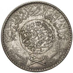 HEJAZ & NEJD: 'Abd al-'Aziz b. Sa'ud, 1926-1953, AR 1/2 riyal, Makka al-Mukarrama (Mecca), AH1346. E