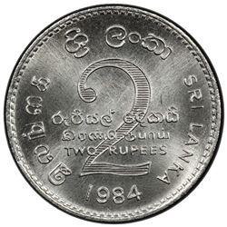 SRI LANKA: Democratic Socialist Republic, 2 rupees, 1984. PCGS SP
