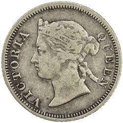 STRAITS SETTLEMENTS: Victoria, 1837-1901, AR 5 cents, 1877. F