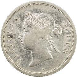 STRAITS SETTLEMENTS: Victoria, 1837-1901, AR 50 cents, 1897-H. EF