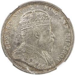 STRAITS SETTLEMENTS: Edward VII, 1901-1910, AR dollar, 1904-B. NGC AU58