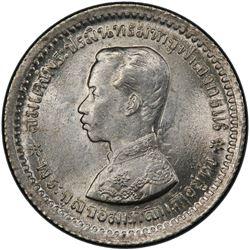 THAILAND: Rama V, 1868-1910, AR 1/4 baht (salu'ng), ND (1876-1900). PCGS MS65