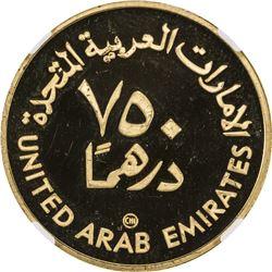 UNITED ARAB EMIRATES: AV 750 dirhams, AH1400/1980. NGC PF66