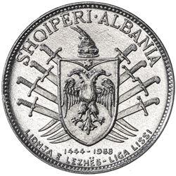 ALBANIA: Republic, 5 leke, 1968. UNC