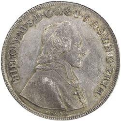 SALZBURG: Hieronymus von Colloredo, 1771-1803, AR thaler, 1773. NGC MS61