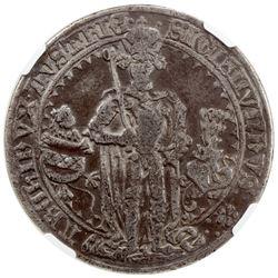 TIROL: Sigismund, 1477-1490, AR guldinar, 1486, Dav-8087, oldest dated thaler, NGC graded VF20